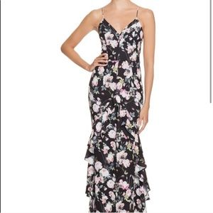 ASOS Jarlo Floral Maxi Wedding Guest Dress 6